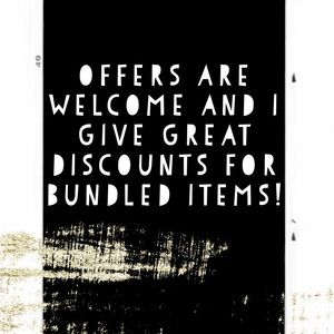 Other - send me offers and make bundles!